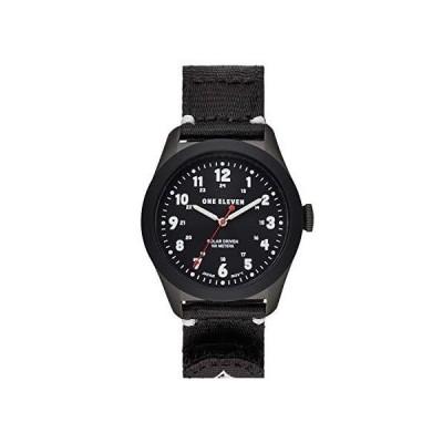 ナイロンストラップ付きワンイレブン(111)ステンレス鋼クォーツ時計、ブラック、22(モデル:CBOE2028)