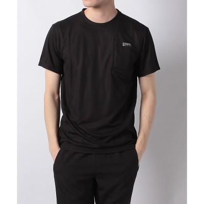 Alpine DESIGN (アルパインデザイン) ポケットTシャツ M . メンズ AD-S19-014-006 BLK