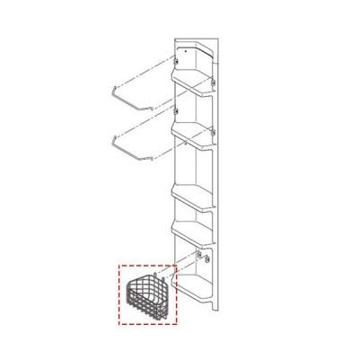 LIXIL・INAX  収納用 収納カゴ 浴室部品 [YR-221-01]