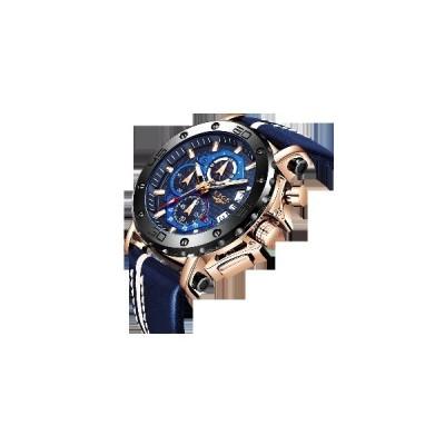 (NO.1)LIGE 9996ファッション男性発光ディスプレイ時計30 m防水クォーツ時計