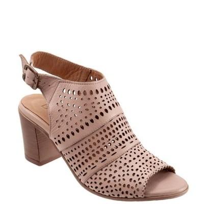 ブエノ レディース サンダル シューズ Upton Perforated Leather Block Heel Sling Sandals