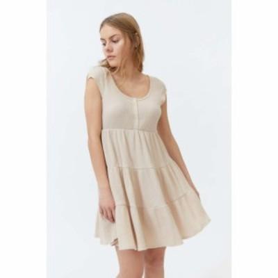 アーバンアウトフィッターズ Urban Outfitters レディース ワンピース ワンピース・ドレス UO Jessica Waffle Frock Dress White