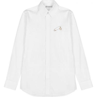 ジバンシー Givenchy メンズ シャツ トップス White Embellished Cotton Shirt White