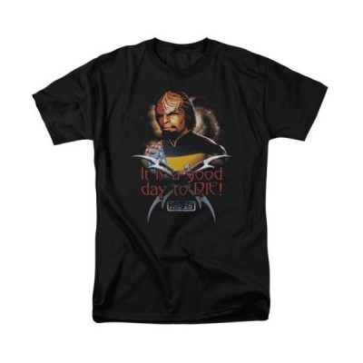 Tシャツ スタートレック Star Trek Tng Worf Good Day To Die Licensed Adult T Shirt