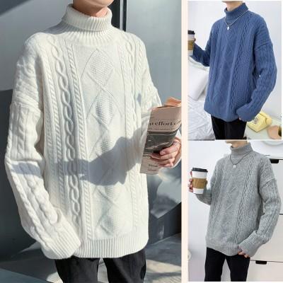 [3枚購入+1枚おまけ5枚+2枚数量限定]韓国メンズファッショントップス ニット セーター ゆったり ざっくり ラウンドネック クルーネック ミックス 防寒 ゆるかわ 冬 カジュアル