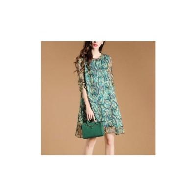 パーティードレス ひざ丈 スカート 総柄 かわいい レディース ワンピース 結婚式 二次会 お呼ばれドレス kh-0228