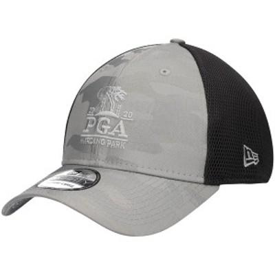 ニューエラ メンズ 帽子 アクセサリー 2020 PGA Championship New Era Camo Front Neo Flex Hat Gray