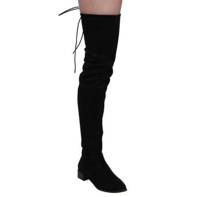 ブーツ シューズ 靴 ケープロビン レディース Block ヒール Side ジッパー ストレッチ Snug Fit Over Knee ブーツ-ブラック;CAMEL BLACK