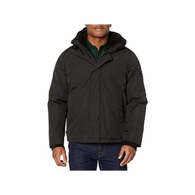IZOD メンズ 超暖か ヒップスタージャケット シェルパトリム US サイズ: Large カラー: ブラックインポート 送料無料
