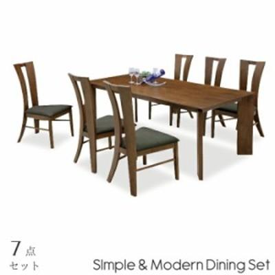 ダイニング7点セット 幅180cm ダイニングテーブル ダイニングチェアー6脚セット 木製 食卓7点セット 食卓セット 木製 6人掛け 6人用 シン