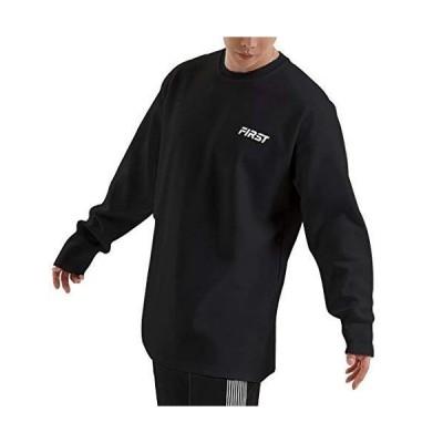 【NORRA 】Tシャツ メンズ 長袖 ロンT カットソー トレーニング シャツ スウェットシャツ 綿 ンゆったり スポーツ ブラックXL