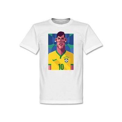 ブラジル代表 ネイマール Tシャツ SOCCER プレイメーカー ホワイト