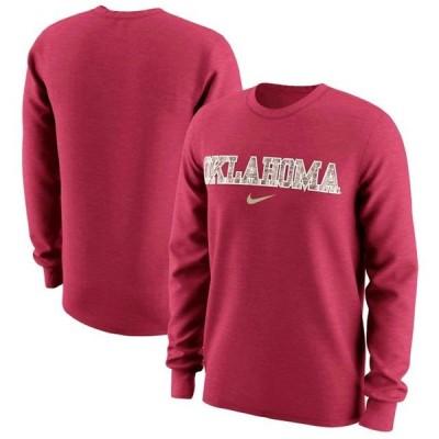 ユニセックス スポーツリーグ アメリカ大学スポーツ Oklahoma Sooners Nike Wordmark Camo Long Sleeve T-Shirt - Crimson Tシャツ