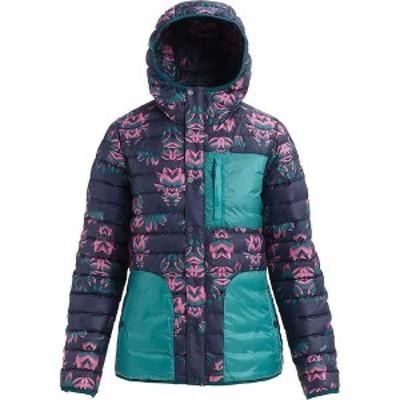 バートン レディース ジャケット・ブルゾン アウター Burton Women's Evergreen Down Hoody Insulator Jacket Dress Blue Stylus / Green