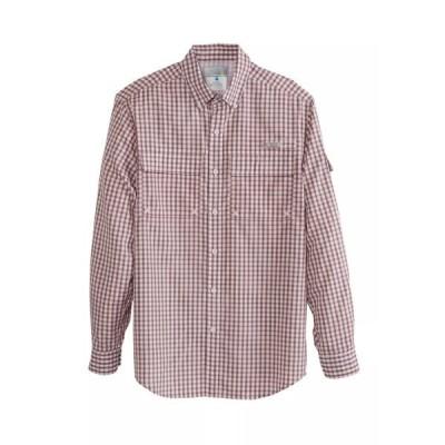 オーシャンアンドコースト シャツ トップス メンズ Green River Long Sleeve Plaid Fishing Shirt White Brickyard