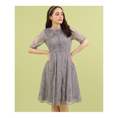 Dorry Doll レース衿ラメレースドレス