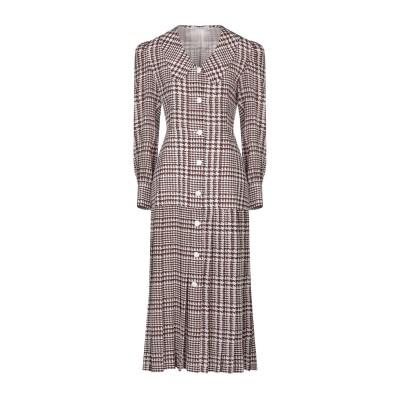 アレッサンドラ・リッチ ALESSANDRA RICH 7分丈ワンピース・ドレス ココア 38 シルク 100% 7分丈ワンピース・ドレス