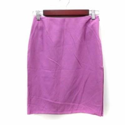 【中古】ヴェルサーチジーンズ VERSACE JEANS COUTURE タイトスカート ひざ丈 38 ピンク /YI レディース