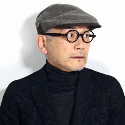 メンズ ハンチング 送料無料 帽子 ブランド ミラショーン ハンチング帽 茶色 冬 ヘリンボーン オシャレ クラシック ハンチング ブラウン