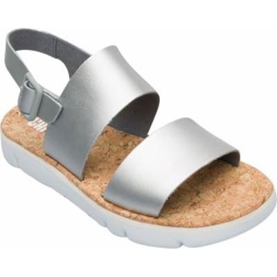 カンペール レディース サンダル シューズ Oruga Two Strap Flatform Sandal Medium Gray Calfskin