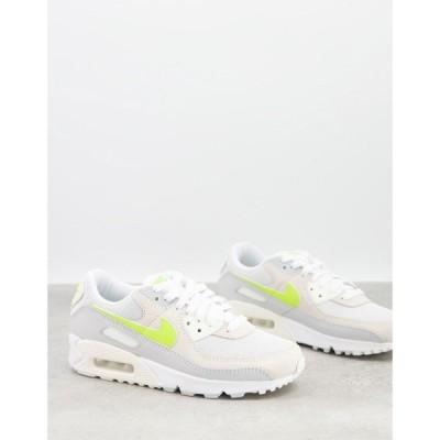 ナイキ Nike レディース スニーカー エアマックス 90 シューズ・靴 Air Max 90 Trainers In White And Lemon Pastel ピュアプラチナ