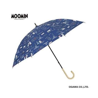 小川(Ogawa) 長傘 晴雨兼用日傘 手開き 50cm 8本骨 ムーミン/ファミリータイム UVカット率&遮光率99%以上 遮熱加工 はっ