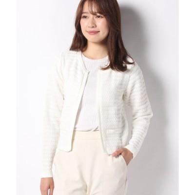 【カールパークレーン】7GGツィード調ニットジャケット