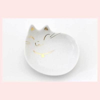 白ネコ 豆皿 47864