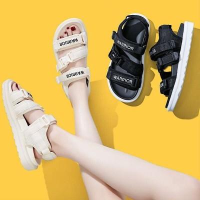 厚底サンダル レディース 歩きやすい 黒 可愛い 韓国 シューズ スポーツサンダル 厚底 メッシュ スニーカー 春夏シューズ サンダル