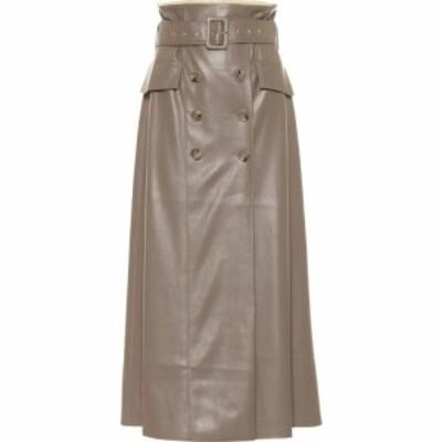 ナヌシュカ Nanushka レディース ひざ丈スカート スカート Zane Faux Leather Midi Skirt Clay