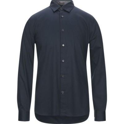 テッドベーカー TED BAKER メンズ シャツ トップス solid color shirt Dark blue