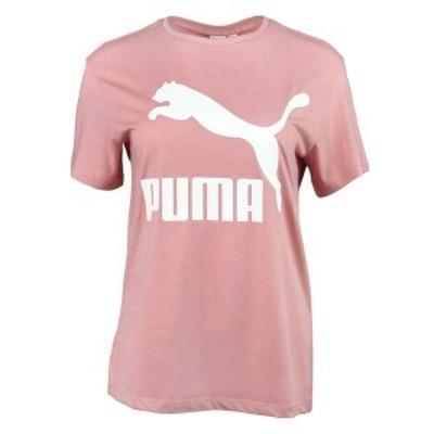 プーマ レディース Tシャツ トップス Classics Logo Tee Bridal Rose