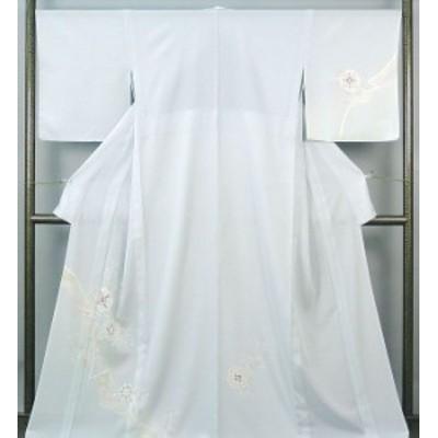 夏物  訪問着 新品仕立済 正絹 夏物 鏡裏花模様 絽訪問着 新品  仕立て上がり  着物