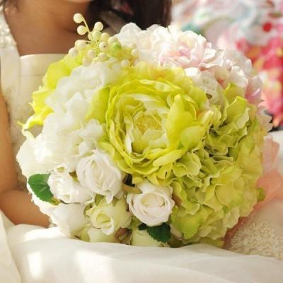 ウエディングブーケ ブートニア 安い 結婚式 ウェディングブーケ 花嫁 ブーケ 披露宴 ウェディング用 造花 ブライダルブーケ 手作り