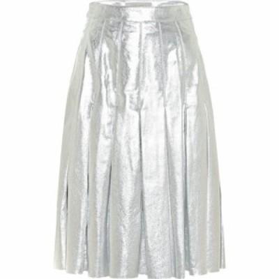 ゴールデン グース Golden Goose レディース ミニスカート スカート anastasia metallic leather miniskirt Silver Silver
