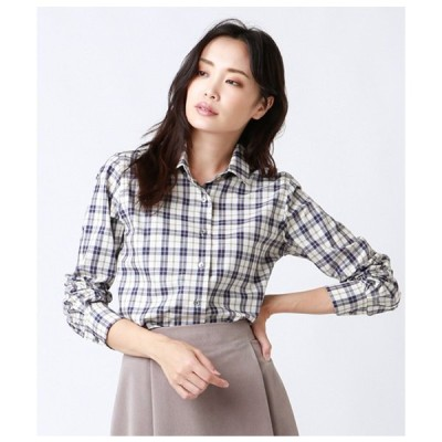 シャツ ブラウス 【ハンサムFit】ミルキータータンチェックシャツ