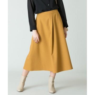スカート ウールライクポリフレアスカート