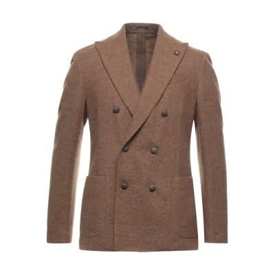 ラルディーニ LARDINI テーラードジャケット ブラウン 48 ポリエステル 56% / 毛(アルパカ) 40% / ウール 4% テーラードジ