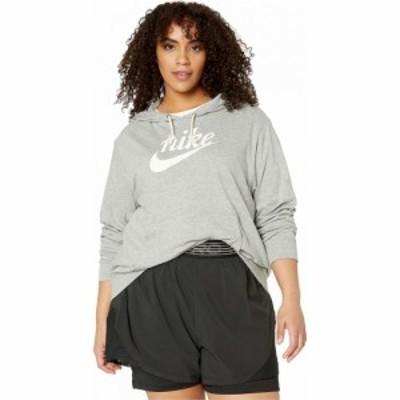 ナイキ Nike レディース パーカー 大きいサイズ トップス Plus Size NSW Gym Vintage Hoodie HBR Dark Grey Heather/Sail