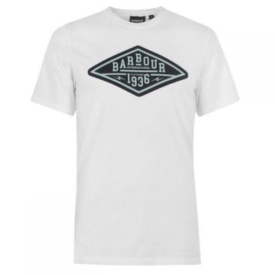 バブアー Barbour International メンズ Tシャツ トップス Compress T-Shirt White WH