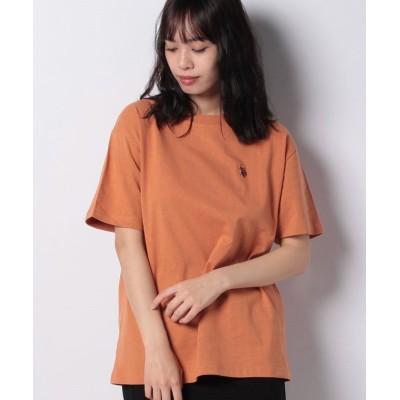 【ウィゴー】 ∴WEGO/U.S. POLO ASSN. 別注ワンポイントTシャツ ユニセックス オレンジ F WEGO