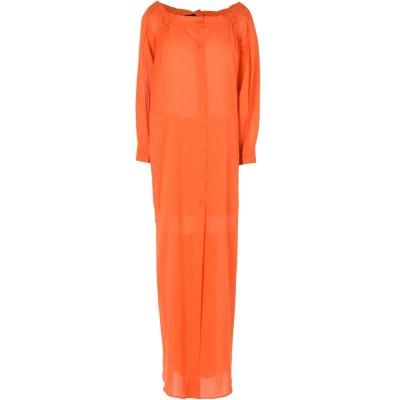 ミッシェル・クラン MICHEL KLEIN ロングワンピース&ドレス オレンジ 38 コットン 100% ロングワンピース&ドレス