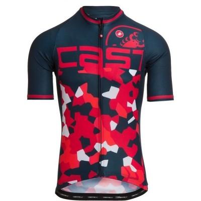 カステリ トップス メンズ サイクリング Attacco Limited Edition Jersey - Men's Dark Infinity Blue/Red