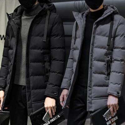 ダウンコート メンズ ロング丈 ダウンジャケット 無地 中綿ジャケット 大きいサイズ 防寒 防風 高品質 暖かい オフィス 通勤