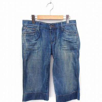 【中古】ジョーズ JOE'S パンツ デニム ジーンズ クロップド W27 ブルー 青 /FT24 レディース 【ベクトル 古着】