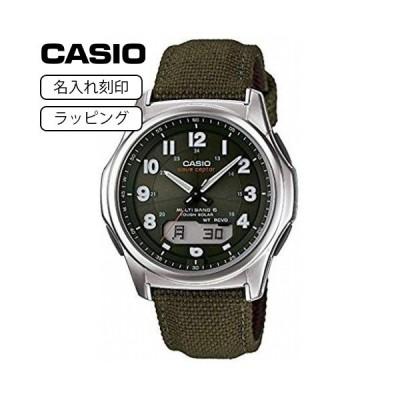 CASIO カシオ 腕時計 メンズ ウェーブセプター WAVE CEPTOR 電波ソーラー WVA-M630B-3A グリーン カーキ 【名入れ刻印】