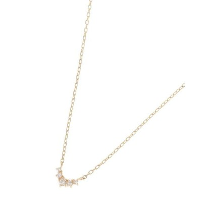 COCOSHNIK/ココシュニック ダイヤモンド グラデーションV字 ネックレス イエローゴールド(104) 40