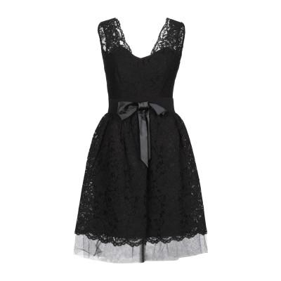 MY SECRET BLACK DRESS ミニワンピース&ドレス ブラック 40 コットン 70% / ナイロン 30% ミニワンピース&ドレス