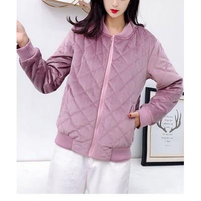 (shoppinggo/ショッピングゴー)レディース ジャケット ノーカラー アウター 長袖 かわいい スプリングコート/レディース ピンク