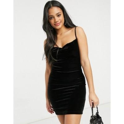 ミス セルフリッジ Miss Selfridge レディース ワンピース ミニ丈 ワンピース・ドレス Strappy Velvet Mini Dress In Black ブラック